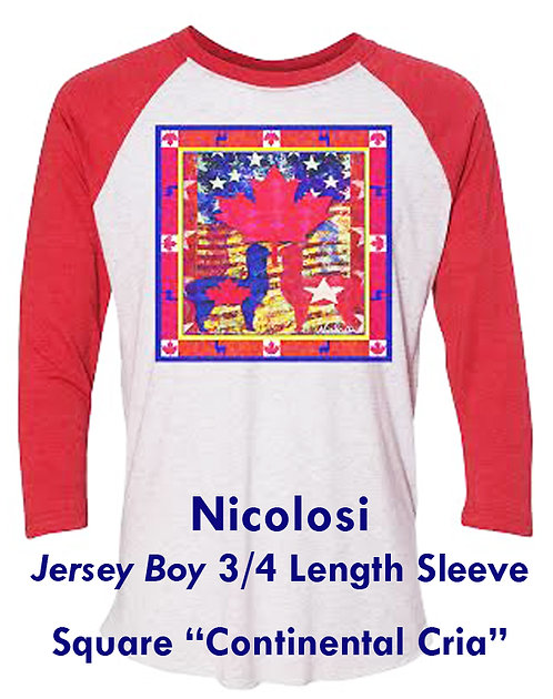 "Nicolosi Wearable Art ""Jersey Boy"" 3/4 Sleeve - Square ""Continental Cria"""