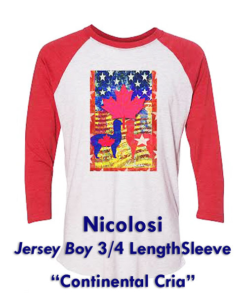 "Nicolosi Wearable Art ""Jersey Boy"" 3/4 Sleeve - ""Continental Cria"""