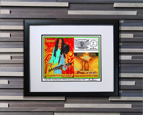 EWF Verdine White USPS 5th Anniversary Limited Edition Art Print by Nicolosi