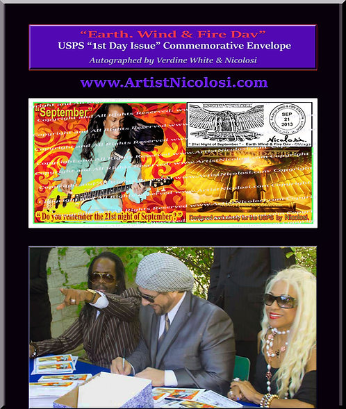 """Earth Wind & Fire Day"" Autographed - USPS 1st Day Issue Commemorative Envelope"