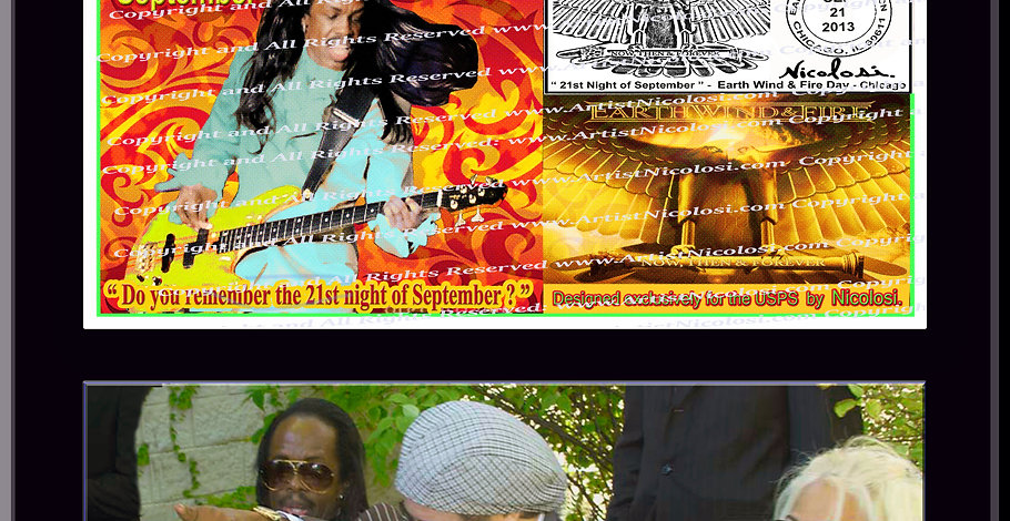 """""""Earth, Wind & Fire Day"""" Autographed  USPS Commemorative by Nicolosi"""
