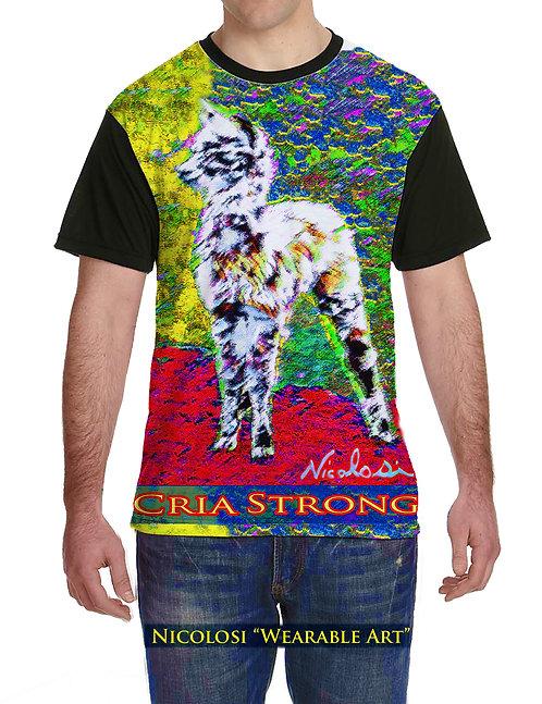 "Nicolosi Wearable Art ""Urban Chic"" Tee - ""Cria Strong"""