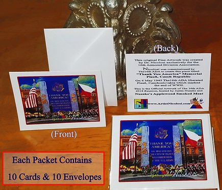 """Thank You America"" Greeting Cards by Nicolosi."