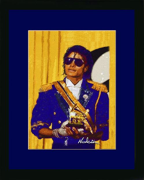 "Michael Jackson ""Hall of Fame Induction"" ------ Signed  ""Mini"" Art Print"