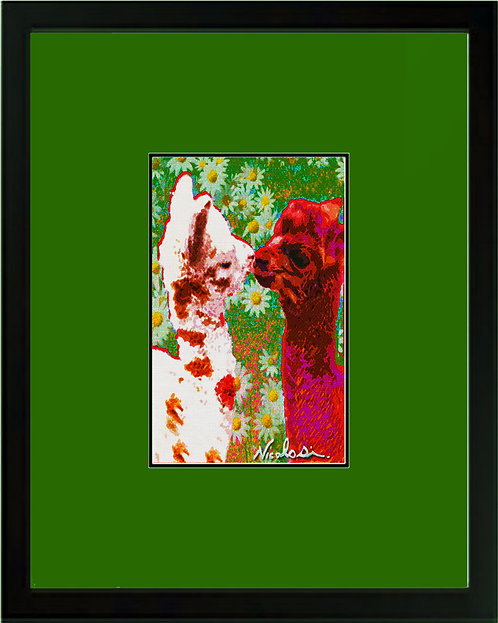 "---------- ""Kissin' Cria"" -----------  Signed ""Mini"" Art Print"