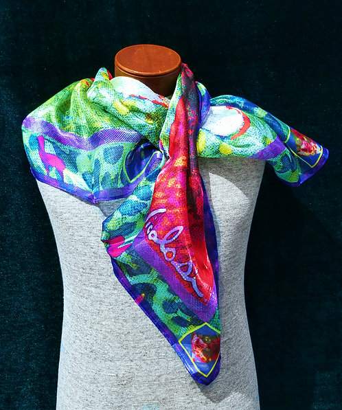"Nicolosi Wearable Art - Art Silk 40"" x 40"" Scarf"