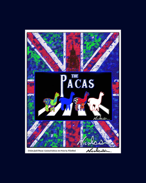 """Union Jack Pacas""- Limited Edition Art Print by Nicolosi"