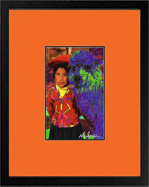 "--------""Quechua Girl""--------Signed ""Mini"" Art Print"