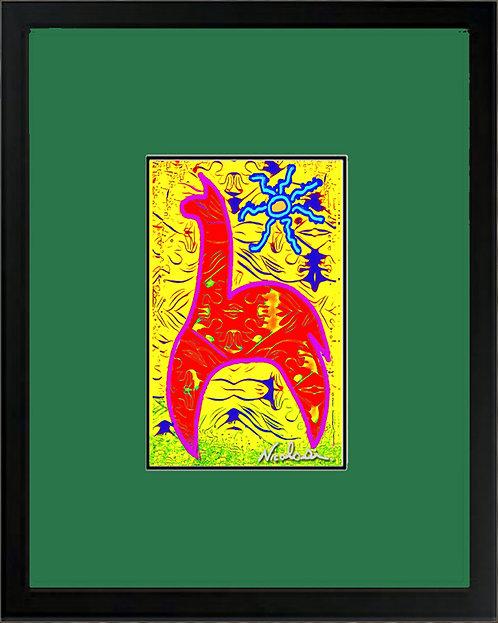 "--""Peruvian Buckeye"" Alpaca-- Signed ""Mini"" Art Print"