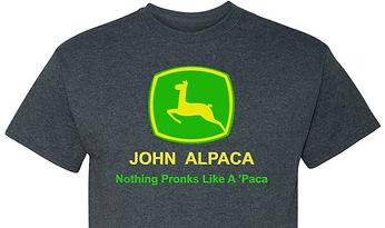2018_11_14 John Alpaca T Shirt RASPBERRY