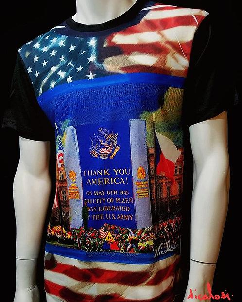 "Nicolosi Wearable Art -""Thank You America""-Urban Chic Shirt"