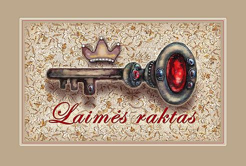 LAIMĖS RAKTAS / THE KEY TO HAPPINESS/ 10 x15 cm