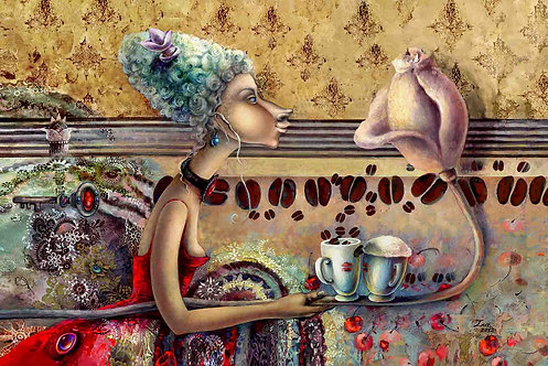 GERA KAVA / GOOD COFFEE / 10 x 15cm