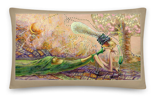 Green wine & Angel  30 x50 cm / Background  is darker