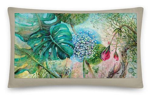 """Green wine & Jungle ""30 x 50 cm"