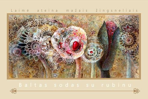 BALTAS SODAS SU RUBINU/ 10x15cm