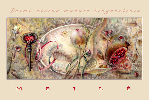 MEILĖ / LOVE / 10 x15 cm
