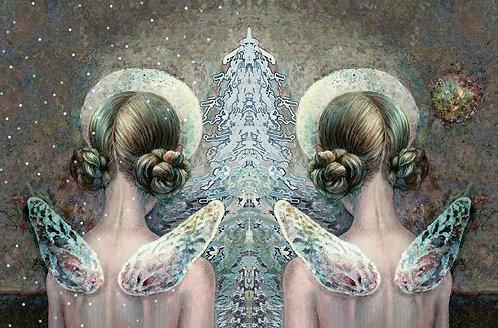 ŽIEMOS ANGELAI / WINTER  ANGELS / 10x15 cm