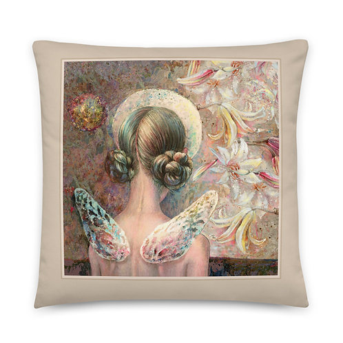 "Decorative  Pillow """"ANGEL"" & "" BIRDS"""