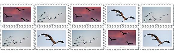 """Carnet de timbres """"En vol"""""""