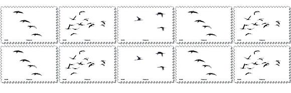 """Carnet de timbres """"Esquisses Noir et Blanc"""""""