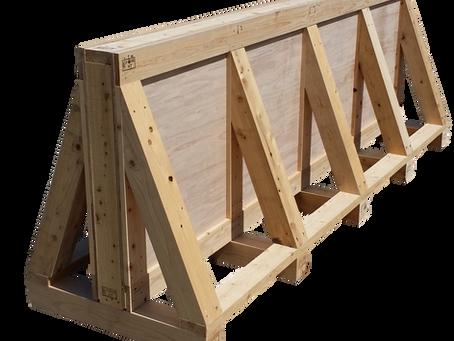 輸出用木箱(ガラス積載)