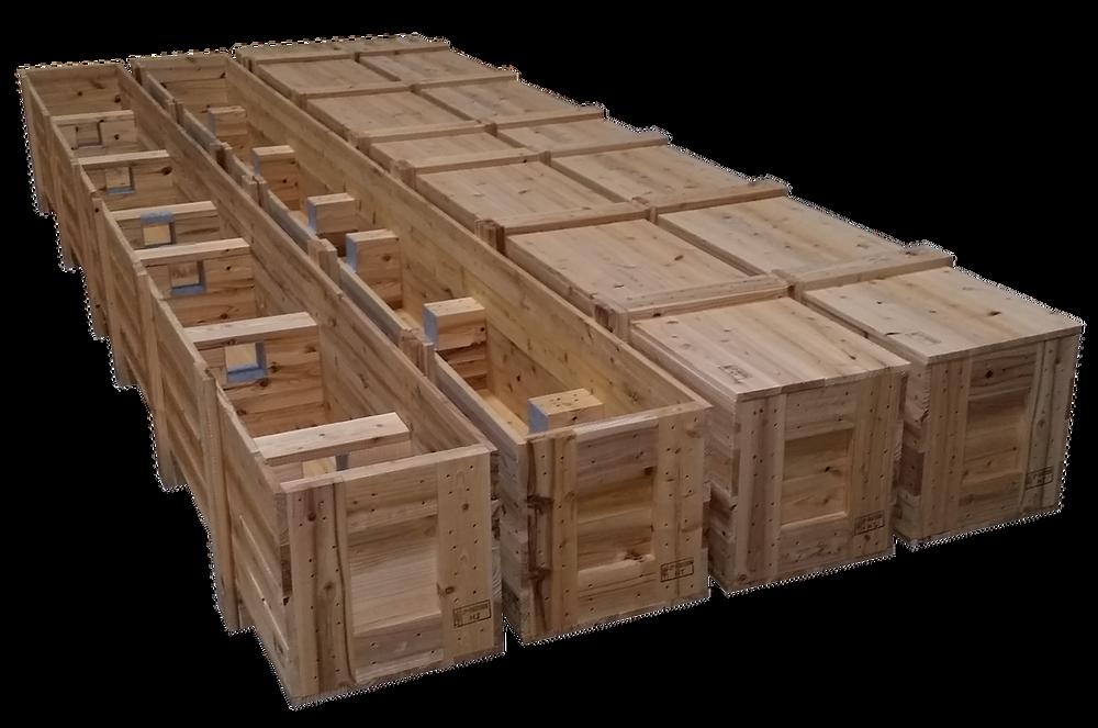 輸出用木箱(コの字型軸受け)