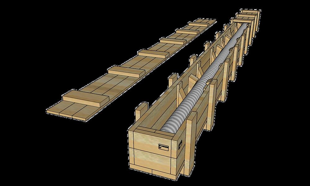 輸出用木箱 図面 3D図面