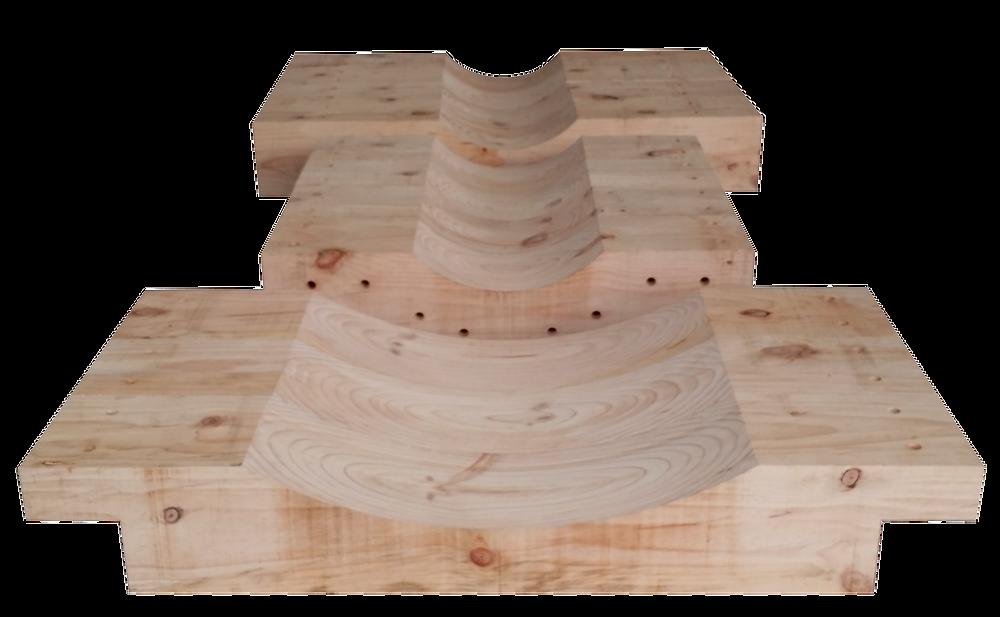 大径R加工盤木 角欠き加工 穴加工 ザグリ加工