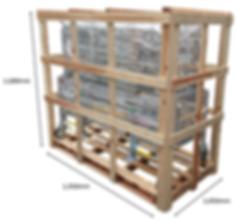 木製木枠 梱包木枠 輸送 保管