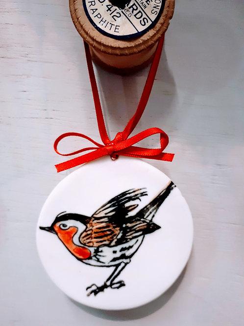 Porcelain Robin Decoration