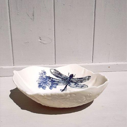 Blue Dragonfly Storage Bowl