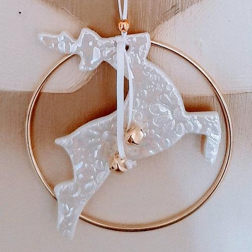 Porcelain Reindeer Hoop