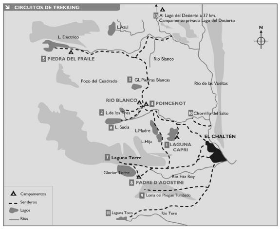 Mapa El Chaltén