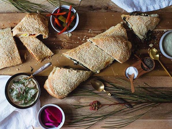 Stuffed Jerusalem bagel