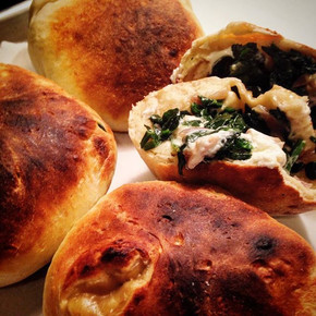 Moroccan prana bread stuffed with cheese & spinach
