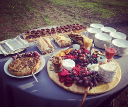 cheese plate and appetisers for a reception