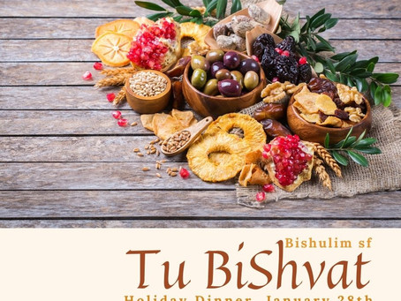 Tu Bishvat Dinner - New Year of The Trees and Plants