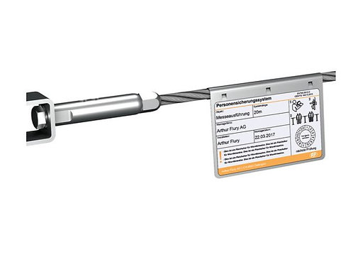 Seilsystem Flury Line 8mm: SYS Systemschild