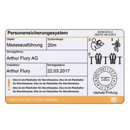 Seilsystem Flury Line 8mm: KSYS Kleber
