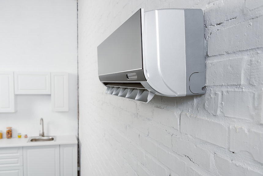 close-up-shot-of-air-conditioner-hanging