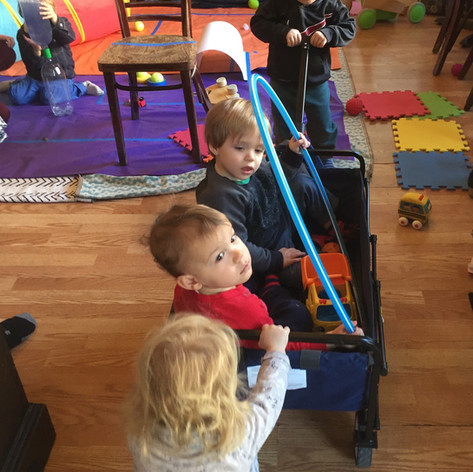 Our playshop about movement: Push, pull & roll