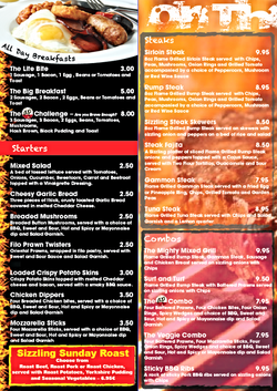 On The Grill - Menu page 1