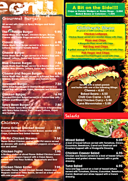 On The Grill - Menu page 2
