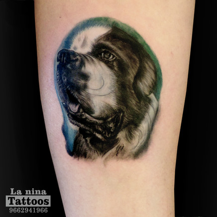 Dog tattoo | La Nina Tattoos | Best tattoo studio in ahmedabad| Best tattoo artist | Gujarat | India