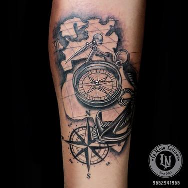 Nautical Tattoo | La Nina Tattoos | Best tattoo studio in ahmedabad| Best tattoo artist | Gujarat | India
