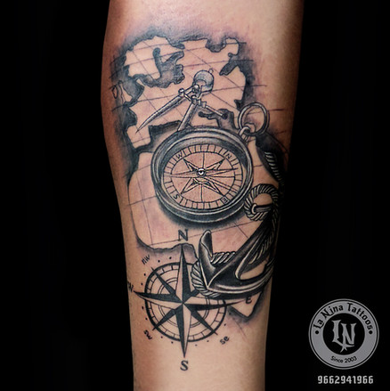 Nautical Tattoo | La Nina Tattoos | Best tattoo studio in ahmedabad| Best tattoo artist | Gujarat | India
