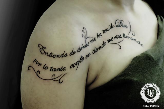 Script tattoo | La Nina Tattoos | Best tattoo studio in ahmedabad| Best tattoo artist | Gujarat | India