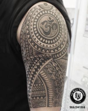 Maori Sleeve tattoo | La Nina Tattoos | Best tattoo studio in ahmedabad| Best tattoo artist | Gujarat | India