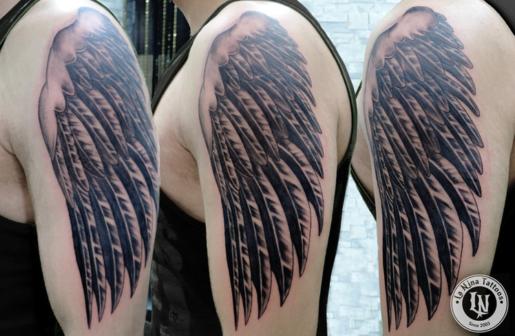 Wings tattoo | La Nina Tattoos | Best tattoo studio in ahmedabad| Best tattoo artist | Gujarat | India
